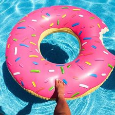 Floating Panda's Giant Inflatable Strawberry Pink Donut Pool Floats For Adults Kids 48 feet Outdoor Swimming Pool Floaty Lounger Party Floatie Swim Rings Beach Lake Float Toys Pool Floats For Adults, Cool Pool Floats, Outdoor Swimming Pool, Swimming Pools, Pool Mat, Giant Donut, Pink Frosting, La Pile, Thing 1