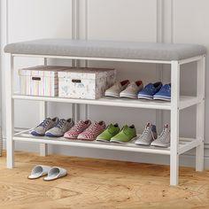 Rack Design, Space Saving Shoe Rack, Shoe Bench, Furniture, Entryway Furniture, Bench With Shoe Storage, Home Furniture, Upholstered Bench, Storage Bench