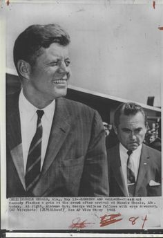 JFK & GEORGE WALLACE. Segregationist George Wallace began his career in the Alabama state legislature in 1947 as a Democrat. He was the governor of Alabama as a Democrat off and on from 1963 through 1987. He ran for US President as a Democrat in '64, '72, and '76. Except for running one time on a third party ticket in '68 for president, George Wallace was a lifelong Democrat.