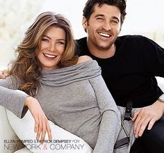 patrick and ellen ♥-off of my favorite tv show-Patrick Dempsey looks so good.