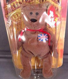 adf7a78d865 McDonalds Ty Brittania Bear 1999 Teenie Beanie Babies House Charity NEW