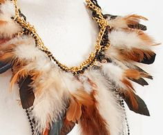 how to make a #feather necklace #rooster