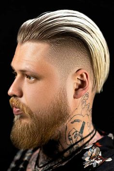 A slicked back undercut is a mens medium long haircut with buzzed or shaved sides and slicked back top. It can incorporate a men fade haircut and resemble a high and tight haircut or be paired with beard. See how to achieve the look here. #menshaircuts #menshairstyles #slickbackhair #slickedback #slickedbackhair #slickedbackundercut #undercut Slick Back Haircut, High And Tight Haircut, Fade Haircut, Slick Back Undercut, Disconnected Undercut, Medium Long Haircuts, Haircuts Straight Hair, Long Hair Cuts, Popular Mens Haircuts