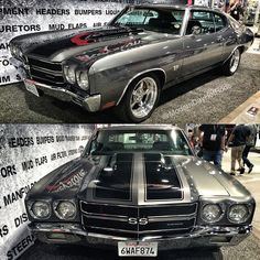 Modern Day Hot Rods 70 chevelle ss  #BecauseSS sema 2014 grey black. keystone