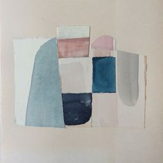 #claireoswalt Trash Art, Textiles, Mid Century Art, Art For Art Sake, Muted Colors, Painting Prints, Paintings, Collage Art, Watercolor Art