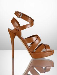 Jessia Kidskin Sandal - Collection Shoes  Shoes - RalphLauren.com