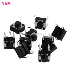 10PCS Tactile Push Button Switch Tact Switch 6X6X5mm 4-pin DIP #G205M# Best Quality