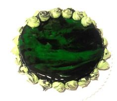 Mirror Glaze Cake black / green