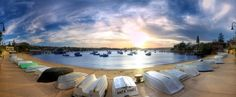 This photo of boats on the beach at Watson's Bay, Sydney, NSW, by Tommy Trinh, was a finalist in the Amateur Built Environment category of the 2012 Epson International Pano Awards.