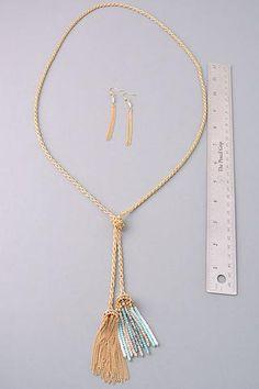 Double Down Tassel Necklace: Multi