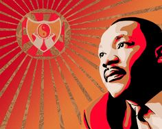 Martin Luther King Jr. in a Shepard Fairey Art style. Order a custom image like this one on my fiverr page!