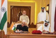 PM Modi visits Qatar, holds talks with His Highness Sheikh Tamim Bin Hamad Al-Thani  Agreements…