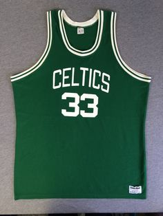 9c7c786a9 BOSTON CELTIC Jersey 80 s Vintage  Larry Bird  33 RARE! 1980 s Shirt  NbA  Sand-Knit UsA Made Green Size X-Large