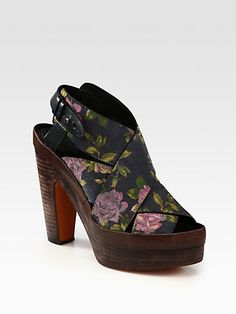 Rag & Bone Floral Platform Sandals. A touch of spring in the midst of winter. Pair these with opaque tights or leather pants and you can wear them through the holidays!