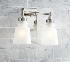 Benchwright Double Sconce Pottery Barn Bathroom Lighting