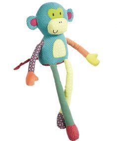 "Mamas & Papas Jamboree Toy Monkey - Mamas and Papas - Toys ""R"" Us Handmade Baby, Handmade Toys, Papa Baby, Toy Monkey, Sock Toys, Fabric Animals, Fabric Toys, Sewing Toys, Baby Crafts"