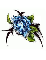 """Képtalálat a következőre: """"blue tribal flower tattoo"""""""