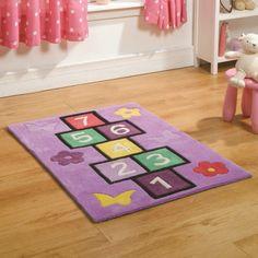 Flair Rugs Kiddy Play Hopscotch Childrens Rug Multi 70 X 100 Cm
