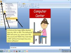 Using Microsoft PowerPoint compared to Word for making all your documents! Then....turning them into a PDF. Fern Smith's Thursday's Tech Tips for Teachers Linky Party!