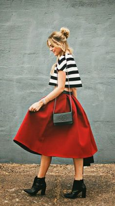 Pops of red with stripes!