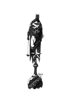 Mike Mignola - Batman Black and White cover original comic art
