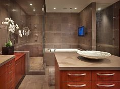 Beautiful and luxurious bathroom from Huffington Post Home section