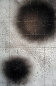 'Carbon Cleaving' by English artist Emma McNally. Graphite, nails on paper. 120 x 185 cm. via Emma McNally1 on flickr