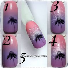 Heat Up Your Life with Some Stunning Summer Nail Art Manicure, Diy Nails, Cute Nails, Spring Nails, Summer Nails, Nail Art Fleur, Tulip Nails, Painted Nail Art, Flower Nail Art