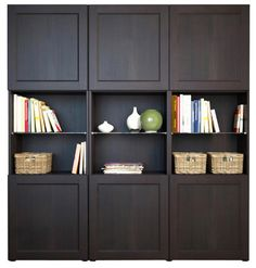 Ikeas BESTA storage, more traditional look.