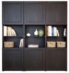 besta ikea Dining Room Contemporary with bookshelf bright cabinet