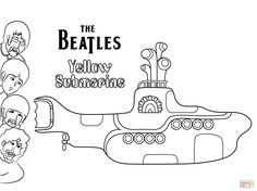 the beatles yellow submarine coloring page Coloring Pages