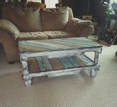 This coffee table had a great design and the color turned out great. This table can be customized to fit your wants or needs.