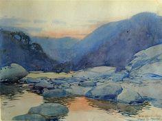 Harold Brocklebank Herbert (1892 — 1945, Australia) Evening Reflections. watercolour. 24 x 32 cm.