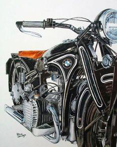 motobilia:  credit Patrice Lemiegre. My kind of BMW.