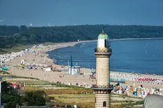 Der alte Leuchtturm von Warnemünde.