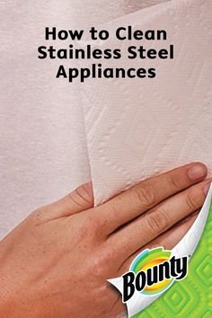 If you feel like you just can't seem to keep your kitchen neat and tidy, this cleaning hack on how to clean stainless steel appliances using Bounty Paper Towels is here to help.