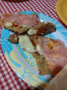 Milanesas de bife de chorizo con jamón y queso