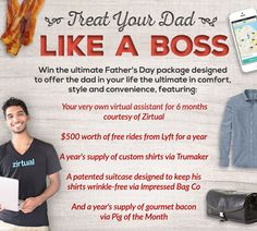 Enter below to transform the dad in your life into a total boss for a year. The greatest father's day gift of all time! Benz, Dad Advice, Enter To Win, Crossed Fingers, Like A Boss, Fathers Day Gifts, Party Time, Your Life, Good To Know