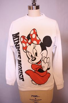 Minnie Mouse Classic 80s Disney Crew Neck Sweater by blacksheepVL