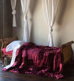 Sophia Personal Patchwork Comforter with velvet, linen, new primrose, satin
