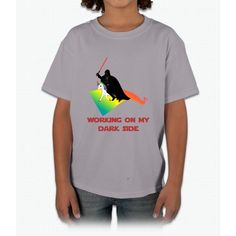 Working On My Dark Side Unicorn Young T-Shirt