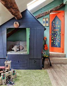 Свой собственный игровой домик в комнате мальчика