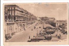 ALGER-Africa-Algiers-Les-Rampes-et-le-Boulevard-de-la-Republique-Vtg-Postcard