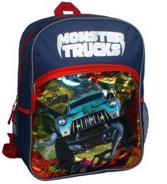 Pin for Later: 100 Backpacks Under $25 For Going Back to School Monster Trucks Backpack Monster Trucks Backpack ($18, originally $30)