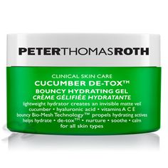 Peter Thomas Roth Cucumber De-tox Bouncy Hydrating Gel - 1.7 oz - This lightweight, oil-free moisturizer with a unique bounce-back texture forms an invisible matte veil over skin. It helps soothe, refresh and calm skin for a soft, supple, healthy looking and youthful appearance.