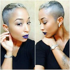 Fashionable Haircut of 2018 for Curly Short Female Hair Nape Undercut Curly Fash Nape Undercut Curly Fash Fashionable female Hair Haircut Nape Short Undercut Short Grey Hair, Short Sassy Hair, Short Hair Cuts, Curly Short, My Hairstyle, Cool Hairstyles, Saree Hairstyles, Bandana Hairstyles, Short Black Hairstyles