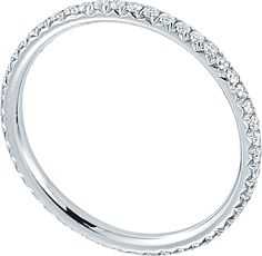 Micro pavé eternity band approx 0.35cts in 18k white gold. Carat weights and pricing will vary de...