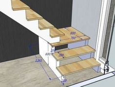 35 ideas house modern loft staircases for 2019 Modern Staircase House ideas loft modern Staircases Small Staircase, Loft Staircase, Attic Stairs, Modern Staircase, Attic Loft, Stairs To Loft, Staircase Ideas, Garage Stairs, Basement Stairs