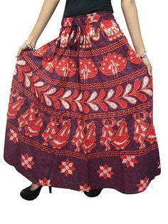 Gypsy Bohemian Skirt: Long Fancy Skirts For Womens Hippie Skirts, Bohemian Skirt, Gypsy Skirt, Boho Skirts, Boho Chic, Bohemian Beach, Bohemian Gypsy, Bohemian Fashion, Cotton Maxi Skirts