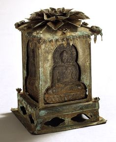 Reliquary, Korea, Unified Silla period, late 9th–early 10th century. Bronze and copper alloy